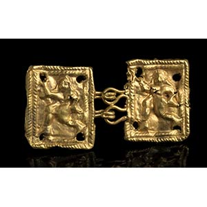 Etruscan Gold Belt Hook depicting a ...