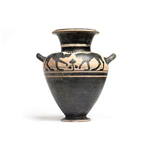 Etruscan Black-Figure Neck Amphora With ...