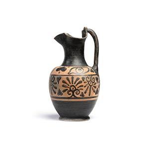 Etruscan Black-Figure Trefoil-Mouth ...