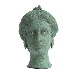 Greek Bronze steelyard weight shaped as head ...