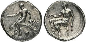 Apulia, Tarentum, Nomos, ca. 425-415 BCAR (g ...
