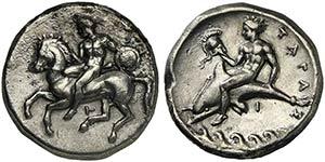 Apulia, Tarentum, Nomos, ca. 380-340 BCAR ...