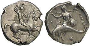 Apulia, Tarentum, Nomos, ca. 332-302 BCAR (g ...