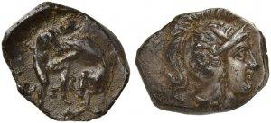 Apulia, Tarentum, Diobol, ca. 325-280 BCAR ...