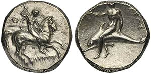 Apulia, Tarentum, Nomos, ca. 302-280 BCAR (g ...