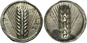 Lucania, Metapontion, Stater, ca. 540-510 ...
