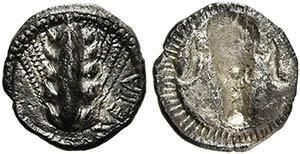 Lucania, Metapontion, Obol, ca. 470-440 BCAR ...