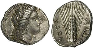 Lucania, Metapontion, Nomos, ca. 330-290 ...