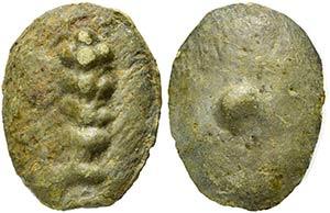 Tuder or Volsinii, Cast Uncia, 3rd century ...