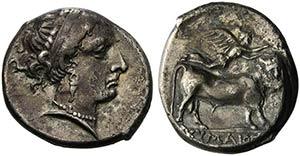 Campania, Cumae, Didrachm, ca. 325-300 BCAR ...