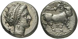 Campania, Neapolis, Didrachm, ca. 320-300 ...