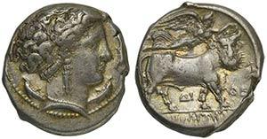 Campania, Neapolis, Didrachm, ca. 300 BCAR ...