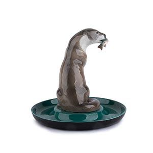 LENCI - TURINOtterPainted ceramic ...