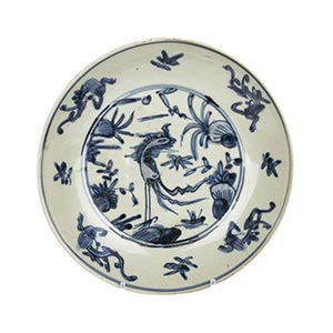 A SWATOW 'BLUE AND WHITE' 'PHOENIX' ...