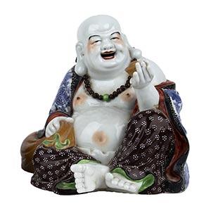 A POLYCHROME FIGURE OF BUDAI  China, 20th ...