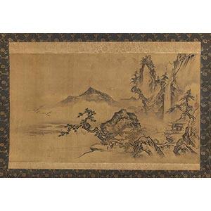 KANŌ TOSHUN(1747-1797)Paesaggio con ...