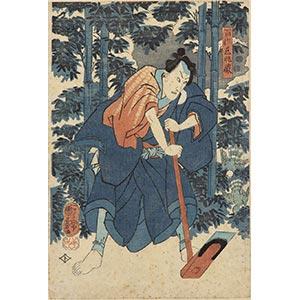 FIVE UKIYO-E POLYCHROME PRINTSJapan, Edo ...