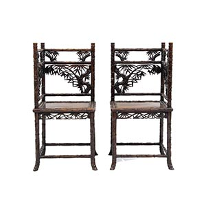 A PAIR OF CHAIRSJapan, first half of the ...