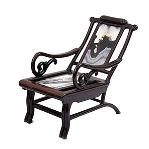 A WOOD AND STONE ARMCHAIRKorea, first half ...