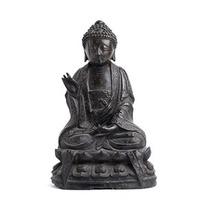 A BRONZE FIGURE OF BUDDHA China, Ming ...