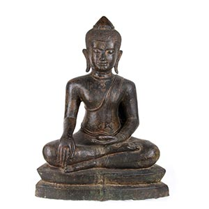 A BRONZE BUDDHASouth-east Asia, 20th ...
