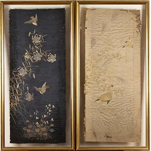 A PAIR OF SILK EMBROIDERIES  China, early ...