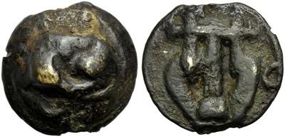Umbria, Tuder, Cast Semis, c. 220-200 BC; AR ...