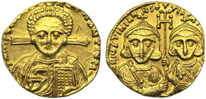 Justinian II with Tiberius, Second reign ...