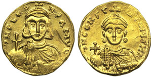 Leo III with Constantinus V (717-741), ...