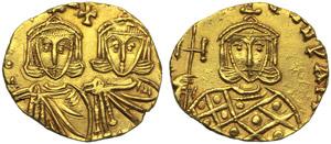 Constantinus V with Leo IV (741-775), ...