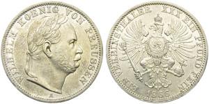 Prussia, Wilhelm I (1861-1888), 1 Thaler, ...