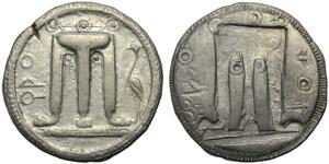 Bruttium, Croton, Stater, c. 500-480 BC; AR ...