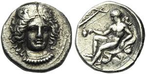 Bruttium, Croton, Stater, c. 400-325 BC; AR ...
