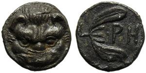 Bruttium, Rhegium, Litra, c. 415-387 BC; AR ...