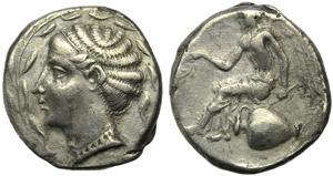 Bruttium, Terina, Stater, c. 420-400 BC; AR ...