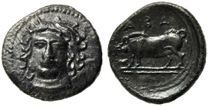 Sicily, Abakainon, Litra, c. 420-410 BC; AR ...