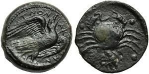 Sicily, Akragas, Hemilitron, c. 450-406 BC; ...