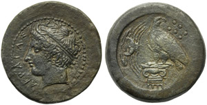 Sicily, Akragas, Hemilitron, c. AD 339-317; ...