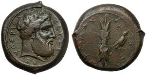 Sicily, Alaisa (Dion's symmachy), Bronze, ...