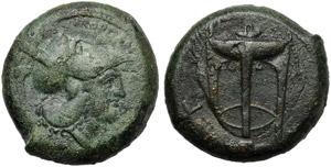 Sicily, Ameselon, Bronze, after 336 BC.; AE ...