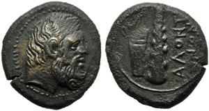 Sicily, Alontion, Bronze, c. 400 BC; AE (g ...