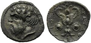 Sicily, Katane, Litra, c. 416-412 BC; AR (g ...