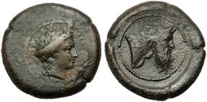 Sicily, Herbessos, Bronze, c. 344-336 BC; AE ...
