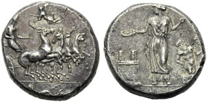 Sicily, Himera, Tetradrachm, before 405 BC; ...