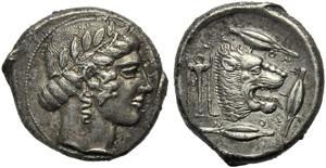 Sicily, Leontinoi, Tetradrachm, c. 460-450 ...