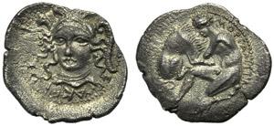 Sicily, Morgantina, Litra, post 334 BC; AR ...