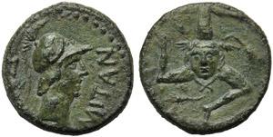 Sicily, Panormos, Bronze, post 241 BC; AE (g ...