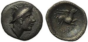 Latium, Alba Fucens, Diobol, c. 280-275 BC; ...