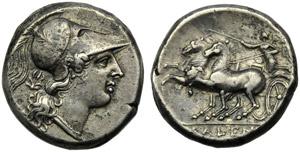 Campania, Cales, Didrachm, c. 265-240 BC; AR ...