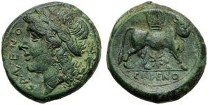 Campania, Didrachm, Cales, c. 265-240 BC; AE ...